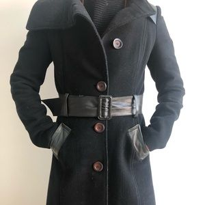 Mackage wool/leather trench coat